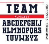 rectangular serif font in style ... | Shutterstock .eps vector #242238580