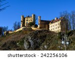 the hohenschwangau castle on... | Shutterstock . vector #242256106