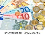 Euro Currency. Coins And...
