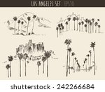 los angeles views set ... | Shutterstock .eps vector #242266684
