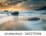 Sea Waves Lash Line Impact Rock ...