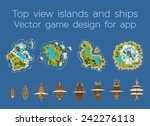 Sailing Ship And Islands Top...