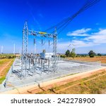 electrical substation  power... | Shutterstock . vector #242278900
