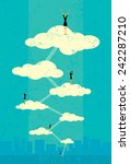 seventh heaven  | Shutterstock .eps vector #242287210