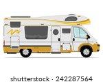 modern camper van. vector.... | Shutterstock .eps vector #242287564