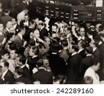 stock traders on the floor of... | Shutterstock . vector #242289160