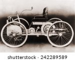 An 1896 Ford, a gasoline-powered motor car, which its maker, Henry Ford, called