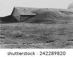 soil drifting over a farm... | Shutterstock . vector #242289820