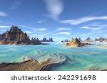 alien planet   3d rendered... | Shutterstock . vector #242291698