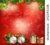 christmas illustration with... | Shutterstock . vector #242295238