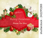 christmas illustration with... | Shutterstock . vector #242295283
