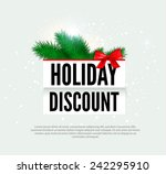 holiday discount banner. vector ... | Shutterstock .eps vector #242295910