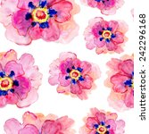 seamless pattern with peony... | Shutterstock .eps vector #242296168