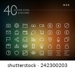globlal web line icons set for...