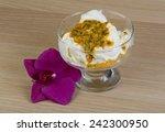 Ice Cream With Passion Fruit...