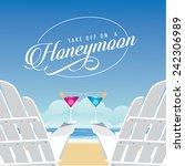 martinis at the beach honeymoon ... | Shutterstock .eps vector #242306989
