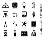 electricity icons set with... | Shutterstock .eps vector #242307043