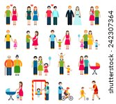 family figures icons set with... | Shutterstock .eps vector #242307364