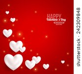 valentines day card design with ... | Shutterstock .eps vector #242309848