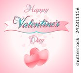 happy valentines day lettering... | Shutterstock .eps vector #242311156
