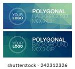 horizontal polygonal banners | Shutterstock .eps vector #242312326