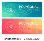 horizontal polygonal banners | Shutterstock .eps vector #242312329