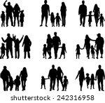 family silhouettes | Shutterstock .eps vector #242316958