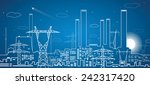 vector lines power plant ... | Shutterstock .eps vector #242317420