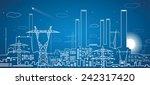 vector lines power plant ... | Shutterstock .eps vector #242317420