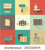 vector flat library icons | Shutterstock .eps vector #242320474