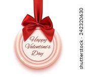 happy valentine's day badge ...   Shutterstock .eps vector #242320630