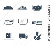different types of cargo  ... | Shutterstock .eps vector #242322583