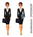 elegant business woman with...   Shutterstock .eps vector #242328109