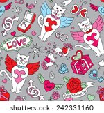 seamless cartoon vector pattern ... | Shutterstock .eps vector #242331160