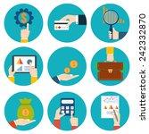 financial examiner icon.... | Shutterstock .eps vector #242332870