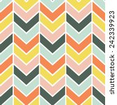 seamless cheerful chevron... | Shutterstock .eps vector #242339923