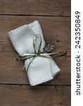 wedding favor on old wooden...   Shutterstock . vector #242350849