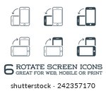 rotate smartphone or cellular... | Shutterstock .eps vector #242357170