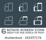 rotate smartphone or cellular... | Shutterstock .eps vector #242357176