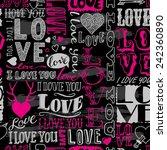 hand drawn seamless pattern... | Shutterstock .eps vector #242360890