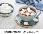 mug with hot chocolate and... | Shutterstock . vector #242361274