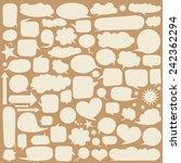 set of white speech bubbles.... | Shutterstock .eps vector #242362294