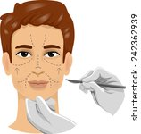 illustration of a man with a... | Shutterstock .eps vector #242362939
