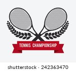 tennis design over white... | Shutterstock .eps vector #242363470