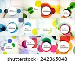 set of circle abstract... | Shutterstock .eps vector #242365048
