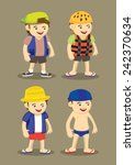 vector illustration of cartoon... | Shutterstock .eps vector #242370634