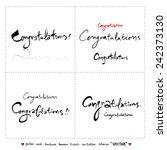 hand drawn greeting    vector   ... | Shutterstock .eps vector #242373130