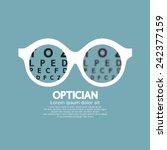 optician  vision of eyesight... | Shutterstock .eps vector #242377159