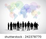 global social networking | Shutterstock .eps vector #242378770