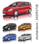 3d car vector | Shutterstock .eps vector #242391718